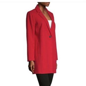 Liz Claiborne XL Mid Length Lined Coat Red